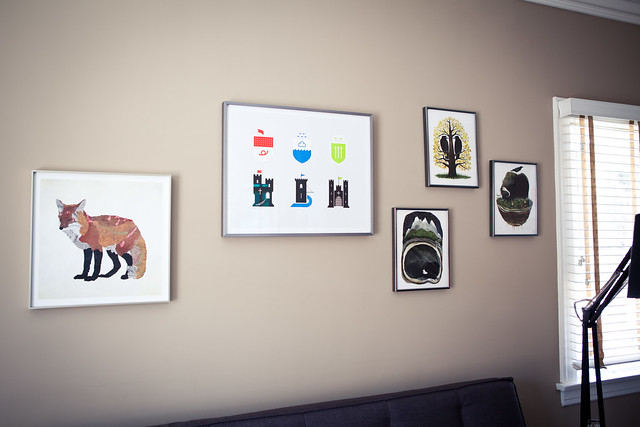 Framed Prints above the Couch