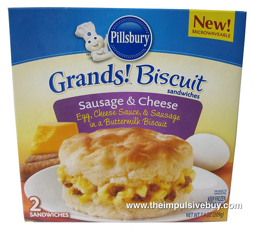 Pillsbury Sausage & Cheese Grands! Biscuit Sandwiches