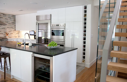 Frosted Glass Kitchen Cabinets The Wow Factor: A Classic Bungalow's Modern Makeover | Diy