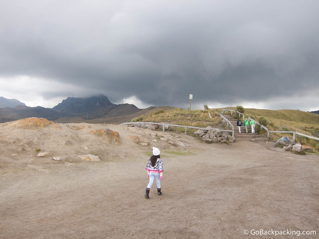 Storm clouds over Pichincha Volcano