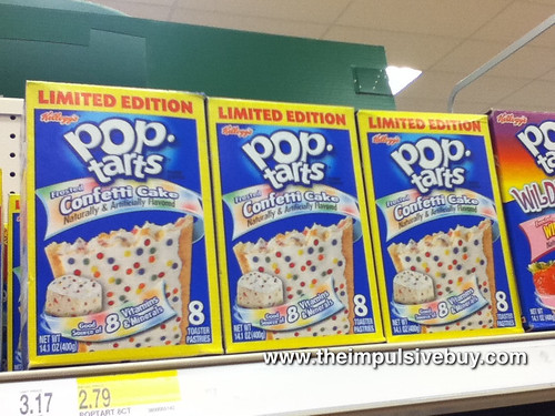 Confetti Cake Pop-Tarts on Shelf
