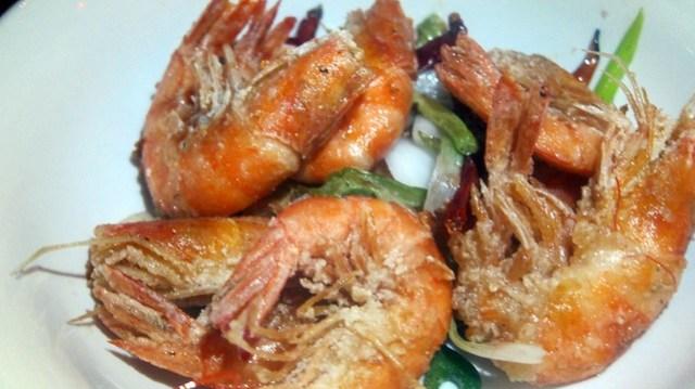 salt and pepper shrimp at octopus bar