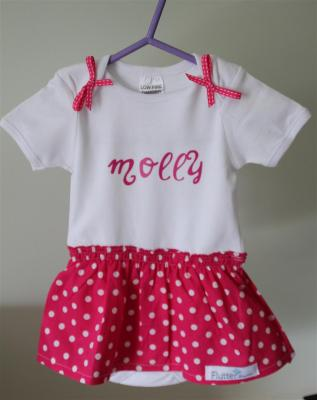 Personalized dress for a friend's baby