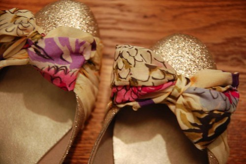DIY Anthropologie Scarf Flats