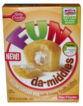 Betty Crocker FUN-da-middles Yellow Cupcake Mix with Creamy Vanilla Filling