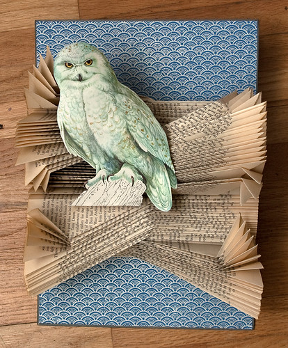 Altered Books- Snowy Owl-5