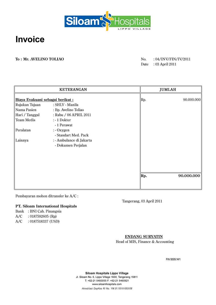 avelino toliao spica Medical Escort Invoice copy gugussubeno Flickr