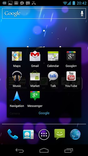 Google Apps di Samsung Galaxy Nexus