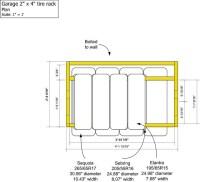 Garage 2x4 tire rack - Plan | Flickr - Photo Sharing!