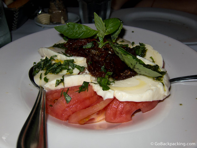 Even the caprese salad was delicious