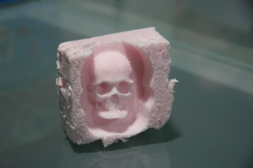CNC Milled Foam Skull
