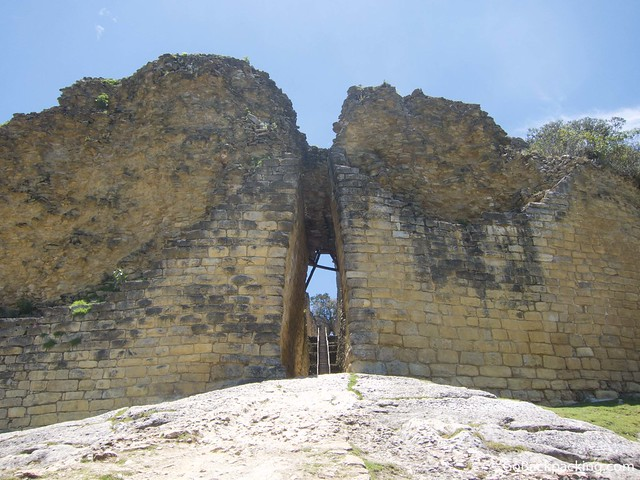 One of the entrances to Kuelap fortress