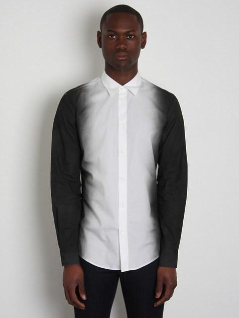 Maison Martin Margiela 10 Men's Shadow Print Shirt mm0905wht_01