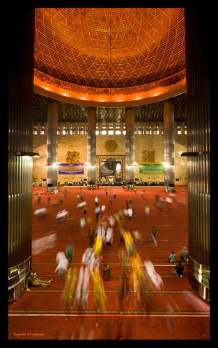 Window to the Prayer Hall :: Istiqlal Mosque, Jakarta