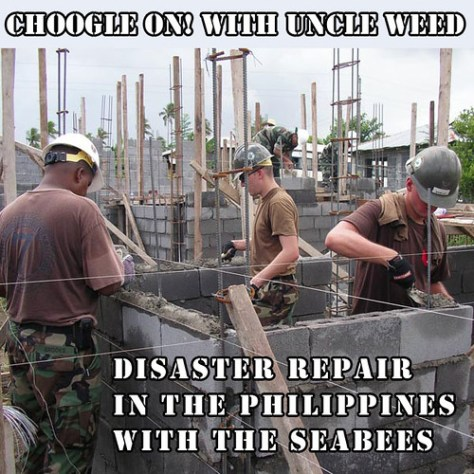 Choogle on! Disaster Recovery with Seabees
