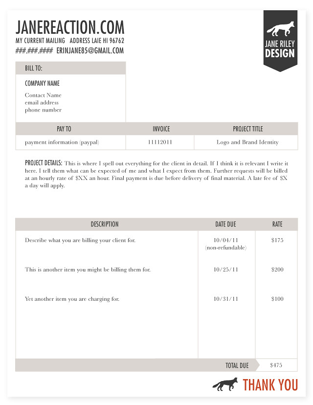 how to type up an invoice - Selol-ink