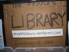 The People's Library Sign At Occupy Wall Street
