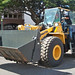 There were 13 heavy equipment sponsors who brought their machines and operators. Pictured is a front-end loader.
