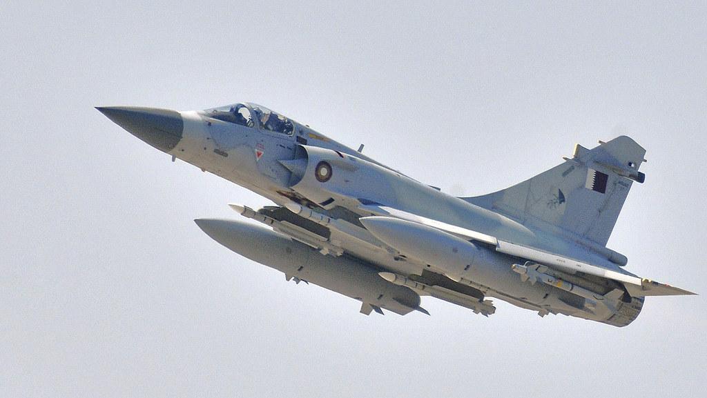 3d Wallpaper In Qatar A Qatar Emiri Air Force Dassault Mirage 2000 5 Fighter Jet