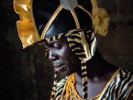 Liberian performer at the Golden Image Awards. By Ken Harper.