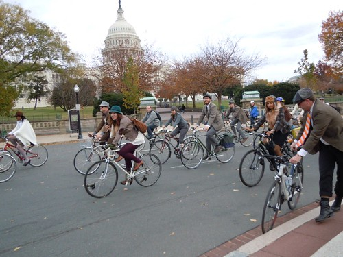 Circling in front of the Capitol
