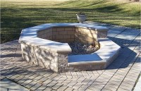 Brick firepit on patio | Flickr - Photo Sharing!