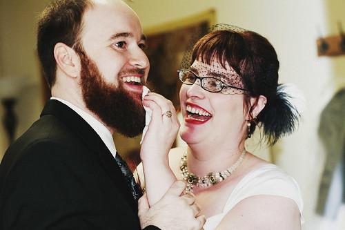 Post-ceremony lipstick removal