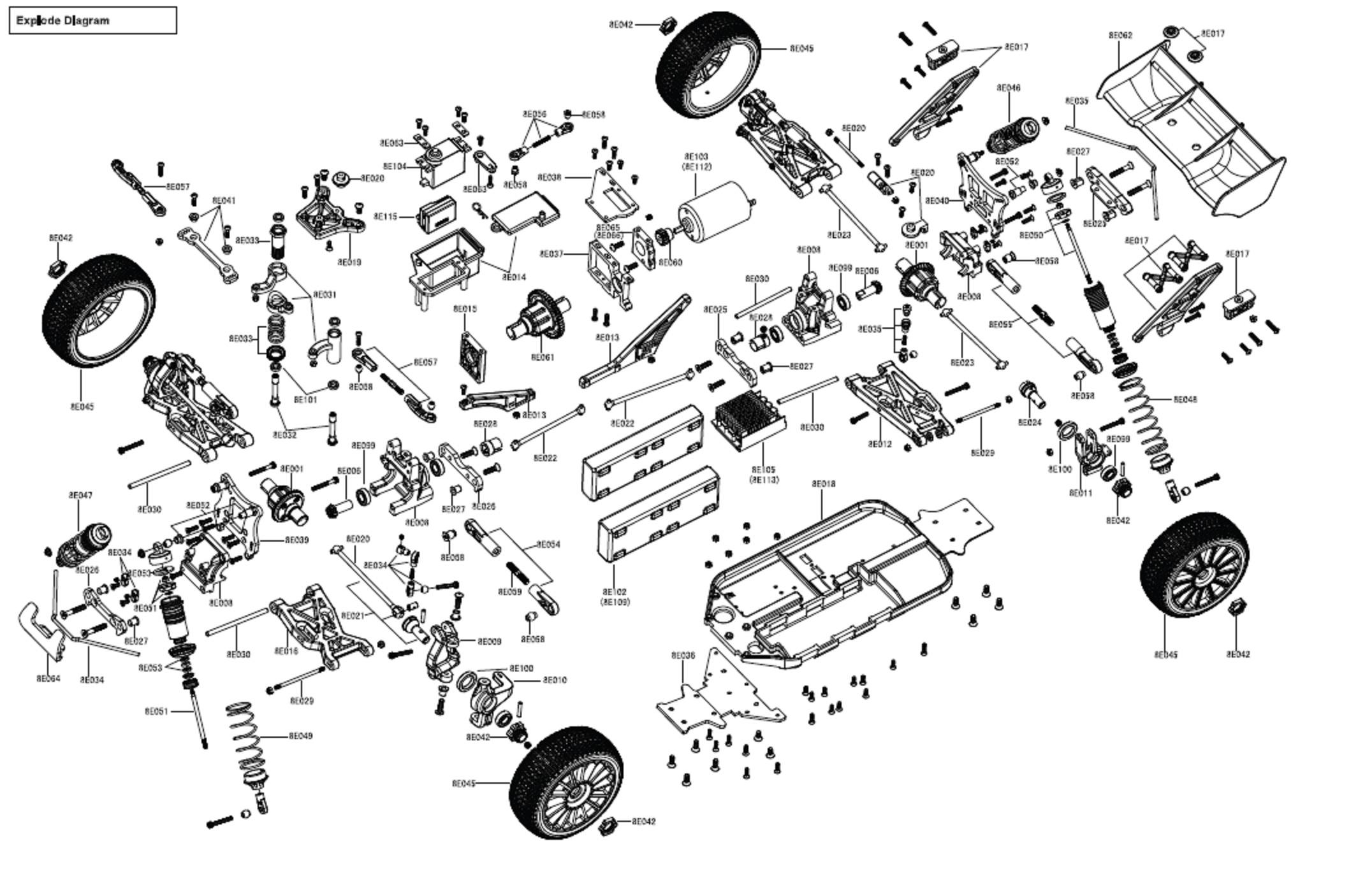 traxxas Motor diagram