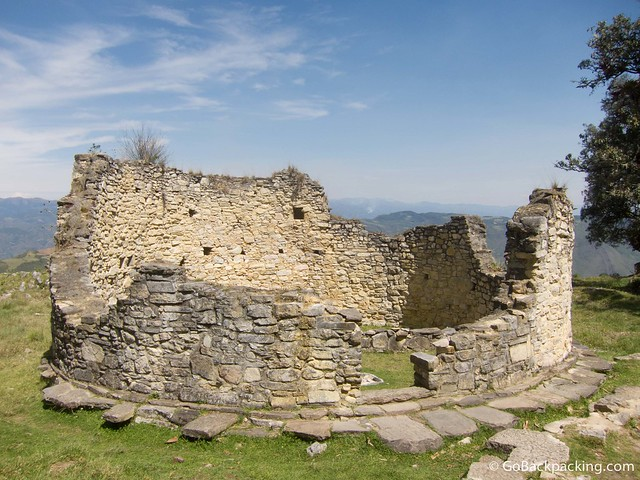 Ruins of one of the 400 structures within the fortress walls