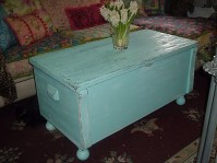 aqua distressed chest turned coffee table | past projects ...