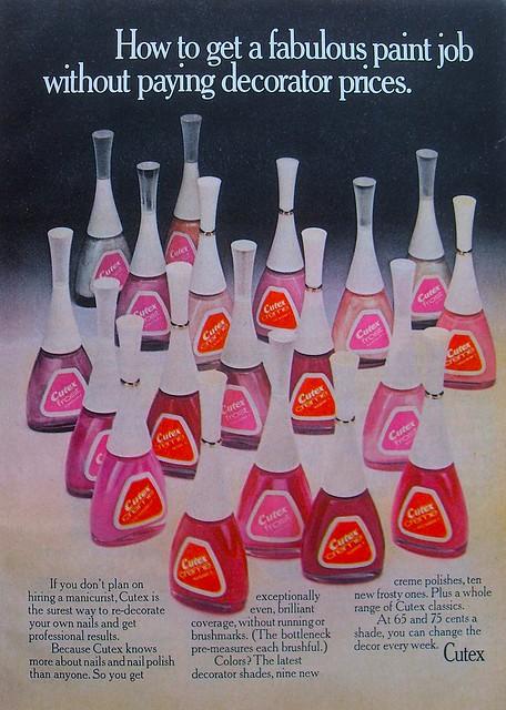1960s Vintage Cutex Nail Polish Advertisement A Photo On
