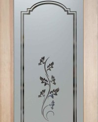 Pantry Doors Glass Etched, Frosted - Oak Leaves | Flickr ...