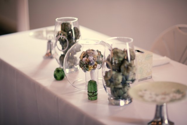 Decorated head table