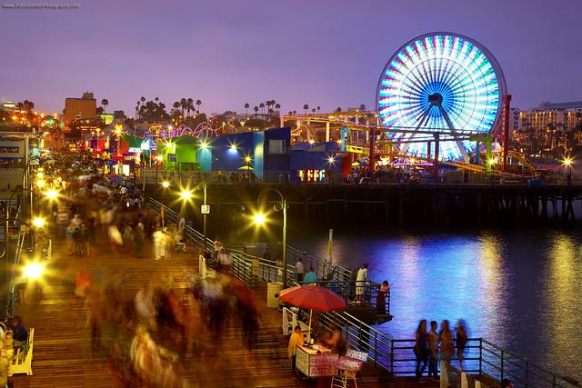 Santa Monica - Evening at the pier por Patrick Smith