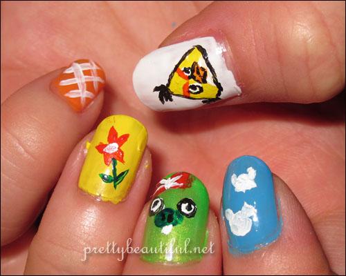 Angry Birds Season Nail Art Summer Pignic V2