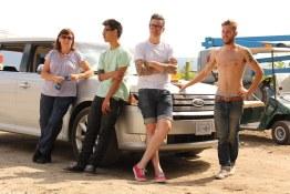 Okanagan Crush Pad  | Chris, Scott, Robert and Dan admiring the new artwork