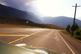 Winding through the Similkameen in the old Jag