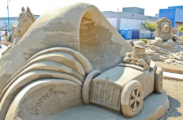 Sand Sculpture: Horse Power by David Billings and Fred Dobbs