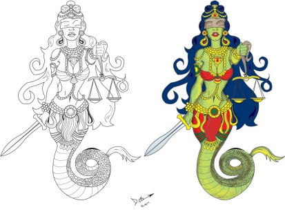 Hindu Naga as Lady Justice