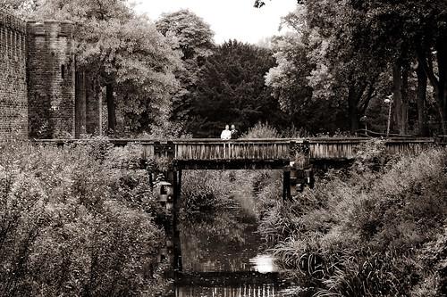 Us on the bridge behind Cardiff castle