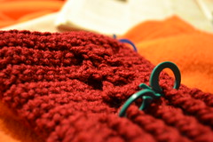 WIP: Cabled Mitts