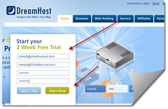 Dreamhost Sign up