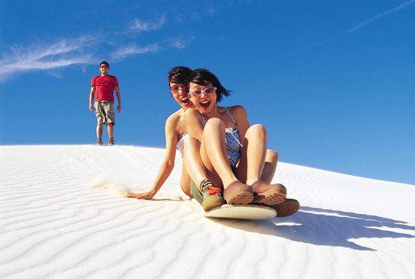 Sandboarding at Lancelin