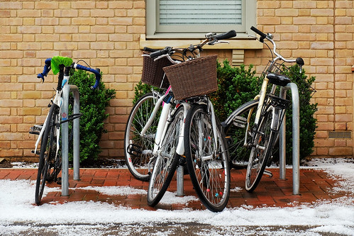Bycicles in the hail