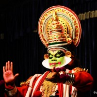 Kathakali In Malayalam, Indian Folk Dance From Kerala