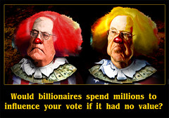 Your vote has value to the Koch Brothers by DonkeyHotey, on Flickr
