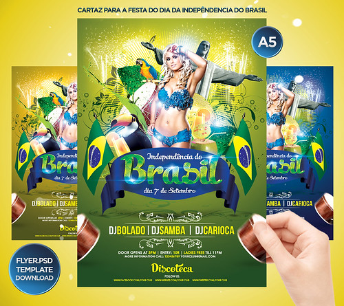 Brasil Independence Day Flyer Template - a photo on Flickriver