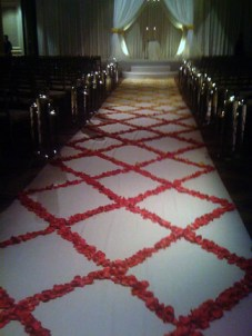 An Aisle of Rose Petals
