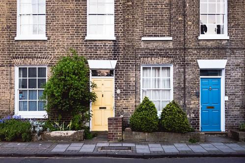 Cream and blue #DoorsOfCambridge