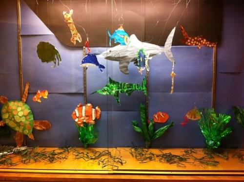 Glass case aquarium - Mr. Post's classroom